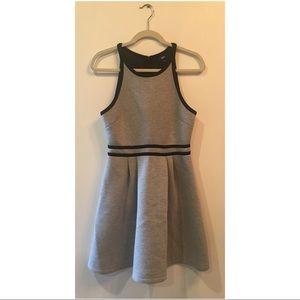Target mission grey neoprene flared dress